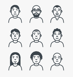 set of line avatars vector image vector image