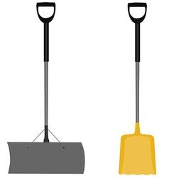 Snow shovel grey and yellow vector image vector image