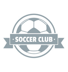 soccer logo simple gray style vector image
