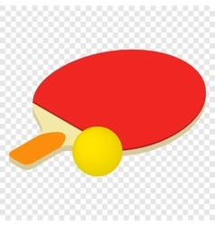 Table tennis isometric 3d icon vector
