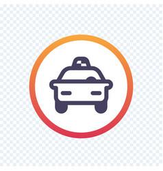taxi cab line icon vector image vector image