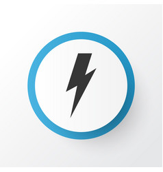 thunderstorm icon symbol premium quality isolated vector image
