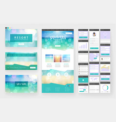 Tropical summer web design template vector