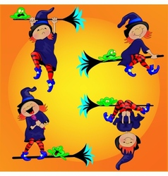 Witch and the Frog vector image vector image