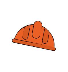 Worker helmet symbol vector