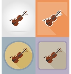 Music items and equipment flat icons 05 vector