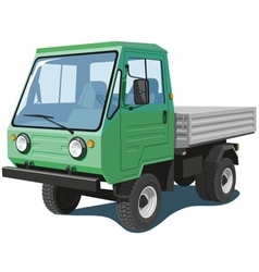 Green small truck vector