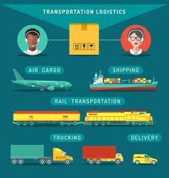 Transportation logistics concept vector