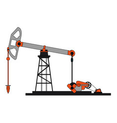 Colorful graphic tower and system oil extraction vector