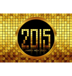 - happy new year 2015 - golden mosaic background vector
