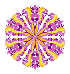 Round hippie ornament vector