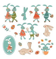 Colorful easter collection vector