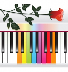 piano with rose vector image
