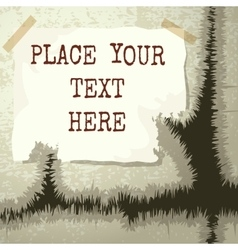 Copy text grunge template vector
