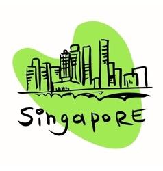 Singapore city vector