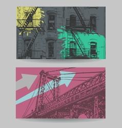 fcity banner design elements set vector image