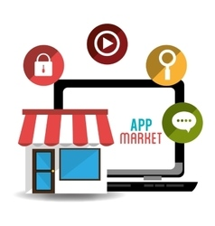 E-commerce and market mobile applications design vector