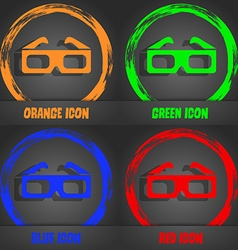 3d glasses icon fashionable modern style in the vector