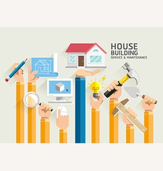 House building service and maintenance vector