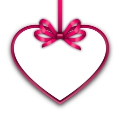 Border shape form Heart from ribbon Valentine day vector image