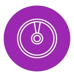 Disc line icon vector
