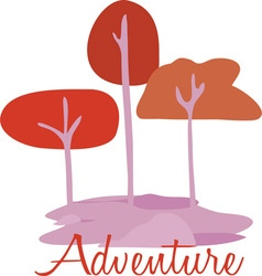 Adventure trees vector