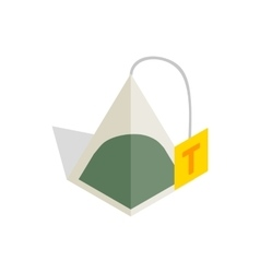 Teabag icon in isometric 3d style vector