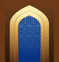 Arabic architecture islamic design background vector