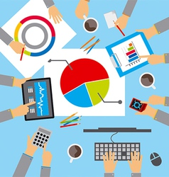 business meeting discuss the plan vector image