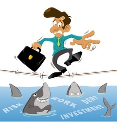 Businessman with investment vector