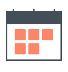 calendar silhouette icon symbol vector image vector image