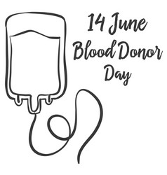 Collection blood donor day hand draw style vector
