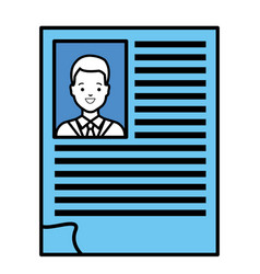 Doctor curriculum paper icon vector