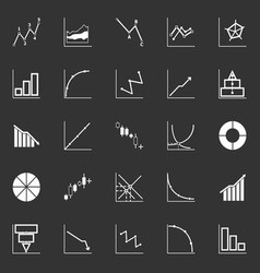 Economic and investment diagram line icon on gray vector image