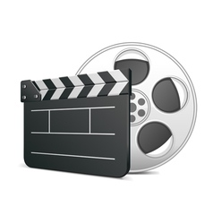 film clap board icon vector image vector image