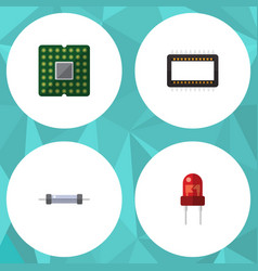 flat icon technology set of resistor unit vector image