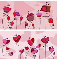 floral love design vector image