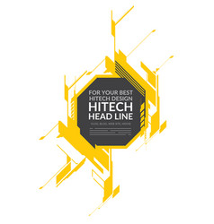 hi-tech yellow elements vector image