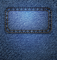 jeans background with label vector image vector image