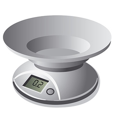 kitchen scale weight vector image