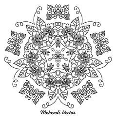 Mandala rangoli vector