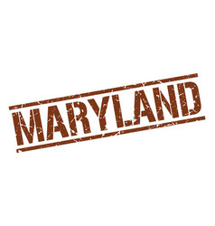 Maryland brown square stamp vector