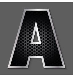 Metal grid font - letter A vector image vector image