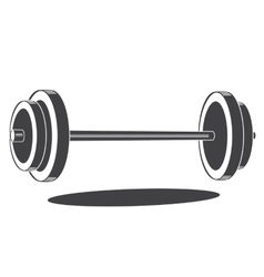 Monochrome barbell icon vector image