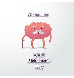 old brain grandparents cartoon design vector image vector image