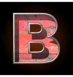 Old metal letter b vector