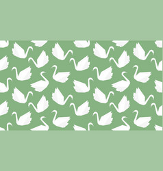 origami crane bird seamless pattern on green vector image