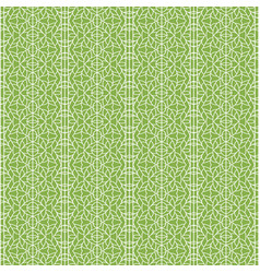 Ornament on greenery seamless pattern background vector