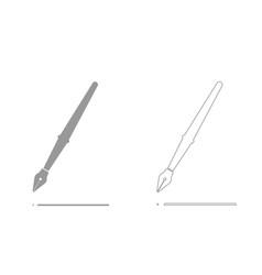 Pen grey set icon vector