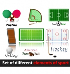 set of elements of sport vector image vector image